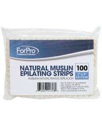 "Natural Muslin Epilating Strips 1"" x 3"" 100-ct."