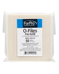 ForPro O-Files Replaceable File System Refills White 180 Grit 50-Count