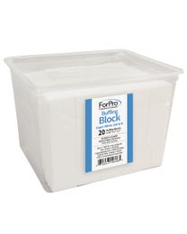 ForPro Super White Buffing Block 180 Grit 20-Count