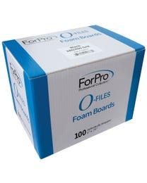 """ForPro O-Files Foam Board 180/400 Grit Black 6"""" L x .75"""" W 100-Count"""