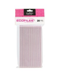 ForPro ECOFILES Pink 80/100 Grit 20-Count
