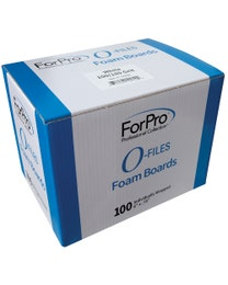 O-Files Foam Board 100/180 Grit, White, 100-Count
