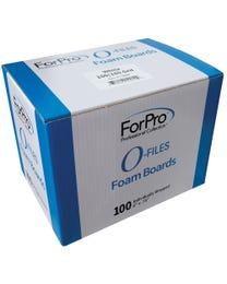 """ForPro O-Files Foam Board 100/180 Grit White 6"""" L x .75"""" W 100-Count"""
