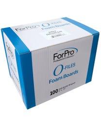"""ForPro O-Files Foam Board 100/180 Grit Zebra 6"""" L x .75"""" W 100-Count"""