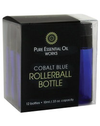 Cobalt Blue Rollerball Bottles 12-ct.
