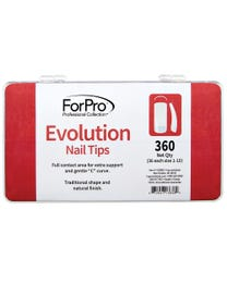 ForPro Evolution Nail Tips 360-Count Tray (36 Each, Size 1-10)