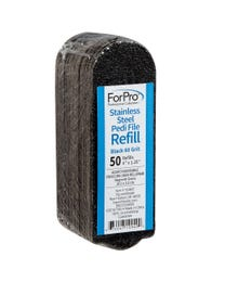 ForPro Stainless Steel Pedi File Refill Black 60 Grit 50-Count