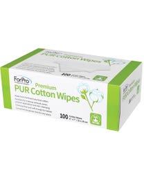 ForPro Premium PUR Dispenser Cotton Wipes 100-Count