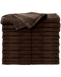 ForPro Premium Bleach Tough Salon Towels Chocolate 24-Count