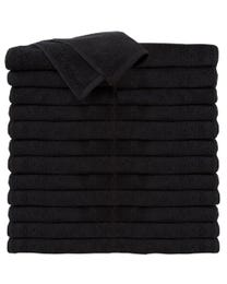 ForPro Premium 100% Cotton All-Purpose Towels Black 24-Count