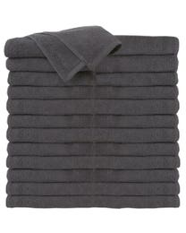 ForPro Premium 100% Cotton All-Purpose Towels Cool Grey 24-Count