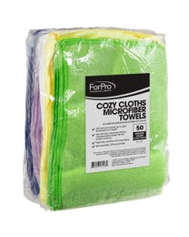 Cozy Cloths Microfiber Towels Assorted Colors 50-ct.