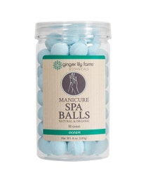 Ginger Lily Farms Botanicals Manicure Spa Balls Ocean 80-Count