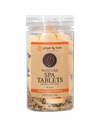Ginger Lily Farms Botanicals Pedicure Spa Tablets Champagne Mimosa 40-Count