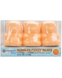 Ginger Lily Farms Botanicals Bubbles Fizzy Bears Orange 6-Count