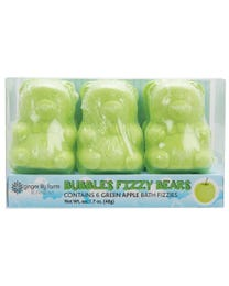 Ginger Lily Farms Botanicals Bubbles Fizzy Bears Green Apple, for Kids, 1.7 Ounces Each, 6-Count