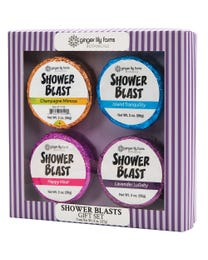 Ginger Lily Farms Botanicals Shower Blasts Gift Set, Makes Taking a Shower a Totally Sensory Experience, 2 Ounces Each, 4-Count