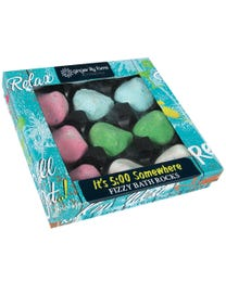 Ginger Lily Farms Botanicals It's 5:00 Somewhere Fizzy Bath Rocks Gift Set 9-Count
