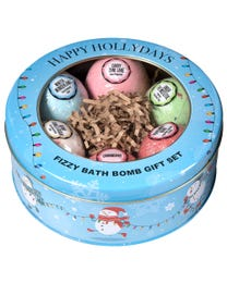 Ginger Lily Farms Botanicals HAPPY HOLLYDAYS Fizzy Bath Bomb Gift Set