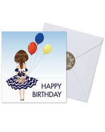 Ginger Lily Farms Botanicals Kudos! Birthday Balloon Girl