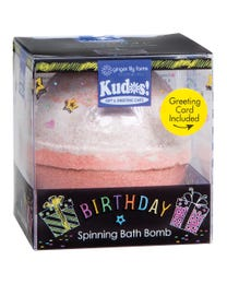 Ginger Lily Farms Botanicals Kudos! Birthday Red Velvet Cake, Spinning Bath Bomb and Greeting Card