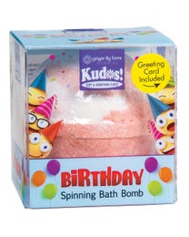 Ginger Lily Farms Botanicals Kudos! Birthday Laughs & Giggles, Spinning Bath Bomb and Greeting Card