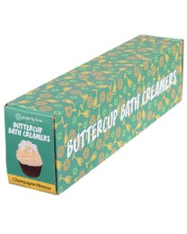 Ginger Lily Farms Botanicals Buttercup Bath Creamers Champagne Mimosa, Turns Bath Creamy, 2.8 Ounces Each, 6-Count