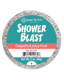 Ginger Lily Farms Botanicals Shower Blast Grapefruit Juicy Fruit, Makes Taking a Shower a Totally Sensory Experience, 2 Ounces Each, 6-Count