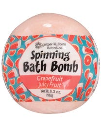 Ginger Lily Farms Botanicals Spinning Bath Bombs Grapefruit Juicy Fruit, Spins, Releases Colors and Fragrance in Bath, 6.3 Ounces Each, 6-Count