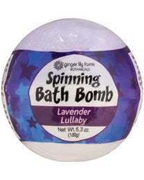 Ginger Lily Farms Botanicals Spinning Bath Bombs Lavender Lullaby, Spins, Releases Colors and Fragrance in Bath, 6.3 Ounces Each, 6-Count