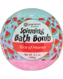 Ginger Lily Farms Botanicals Spinning Bath Bombs Slice of Heaven, Spins, Releases Colors and Fragrance in Bath, 6.3 Ounces Each, 6-Count