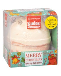Ginger Lily Farms Botanicals Kudos! Merry Christmas Fun, Spinning Bath Bomb and Greeting Card