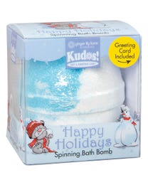Ginger Lily Farms Botanicals Kudos! Happy Holidays Fun, Spinning Bath Bomb and Greeting Card