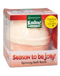 Ginger Lily Farms Botanicals Kudos! Season To Be Jolly, Spinning Bath Bomb and Greeting Card
