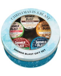 Ginger Lily Farms Botanicals Christmas Is A Blast Shower Blast Tin Gift Set, 2 Ounces Each, 5-