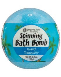 Ginger Lily Farms Botanicals Spinning Bath Bombs Island Tranquility Spins, Releases Colors and Fragrance in Bath, 6.3 Ounces Each, 3-Count
