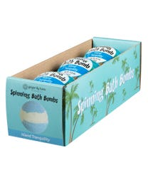 Ginger Lily Farms Botanicals Spinning Bath Bombs Island Tranquility Spins, 6.3 Ounces Each, 3-Count