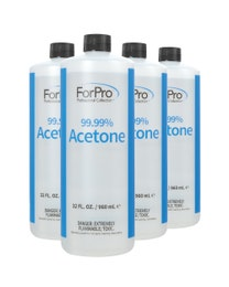 99.99% Acetone 32 Ounce, Pack of 4
