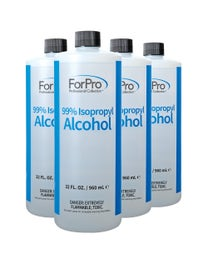 99% Isopropyl Alcohol, 32 Ounce, Pack of 4