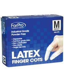 ForPro Latex Finger Cots Medium 144-Count
