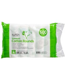 ForPro Premium Cotton Rounds 600-Count (Pack of 6 - 100 Cotton Rounds)