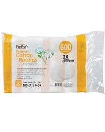 Premium Cotton Rounds Advanced 600-Count (6 Pack - 100 Cotton Rounds)