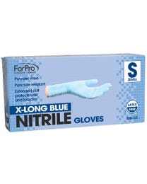 ForPro Blue Nitrile Gloves Powder-Free 7 Mil. Small 100-Count