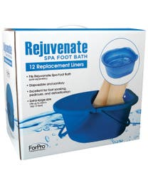 "ForPro Rejuvenate Spa Foot Bath Replacement Liners 14.25"" W x 12.5"" L x 6"" D, 12-Count"