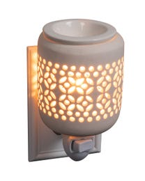 "Celestial Ceramic Plug-In Wax Melter & Essential Oil Diffuser, Easy-Clean, 3"" Round x 5.25"" H"