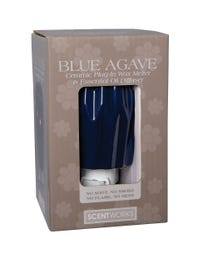 "Blue Agave Ceramic Plug-In Wax Melter & Essential Oil Diffuser, Easy-Clean, 3"" Round x 5.5"" H"