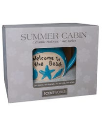 "Summer Cabin Ceramic Halogen Wax Melter, Easy-Clean, 7""W x 5.5""D x 5.75""H"
