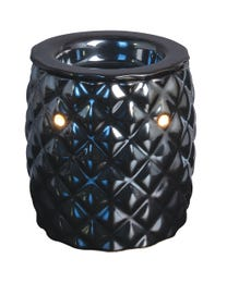 "Montego Bay Ceramic Halogen Wax Melter, Easy-Clean, 5"" Round x 5.25"" H"