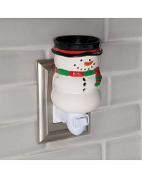 Festive Snowman Ceramic Plug-In Wax Melter & Essential Oil Diffuser