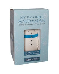 "My Favorite Snowman Ceramic Halogen Wax Melter, Easy-Clean, 4.75"" Round x 5.75""H"